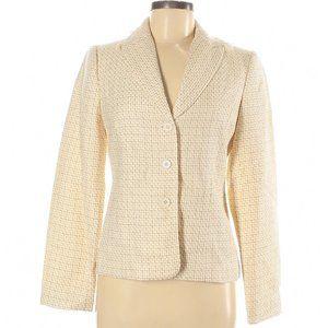 *Apostrophe (NWT) Tan Ivory Weave Pattern Blazer
